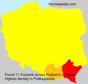 Familiennamen Kuzianik - Poland