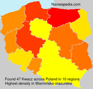 Surname Kwacz in Poland