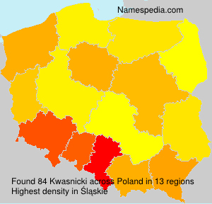 Surname Kwasnicki in Poland