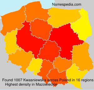 Familiennamen Kwasniewska - Poland
