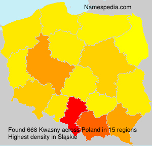 Surname Kwasny in Poland