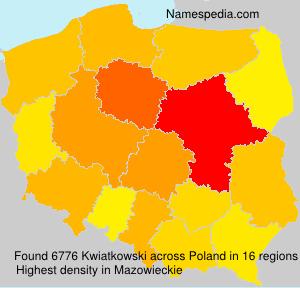 Surname Kwiatkowski in Poland