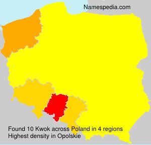 Surname Kwok in Poland