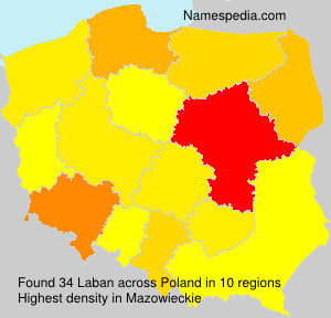 Surname Laban in Poland