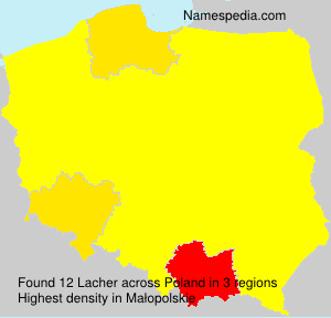 Surname Lacher in Poland