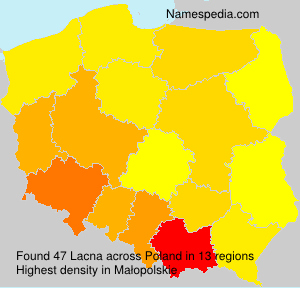 Surname Lacna in Poland