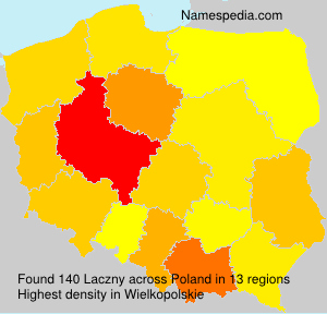 Surname Laczny in Poland