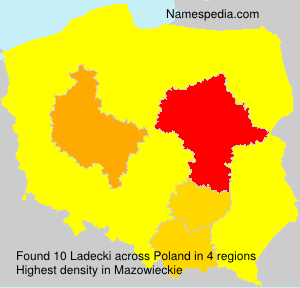 Surname Ladecki in Poland