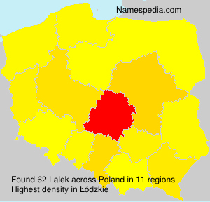 Familiennamen Lalek - Poland