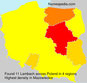 Surname Lambach in Poland