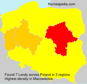 Surname Landy in Poland