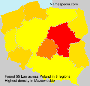 Surname Lao in Poland