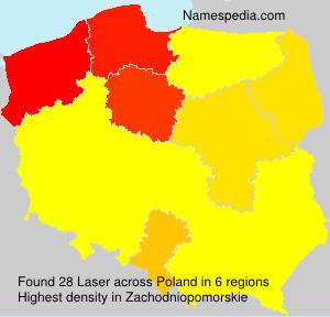 Surname Laser in Poland
