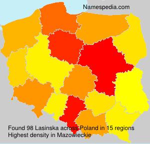 Surname Lasinska in Poland