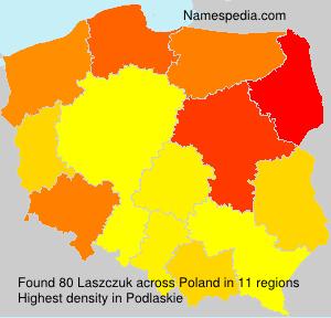 Surname Laszczuk in Poland