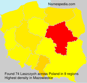 Surname Laszczych in Poland