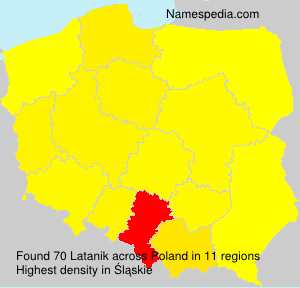 Surname Latanik in Poland