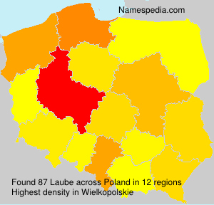 Surname Laube in Poland