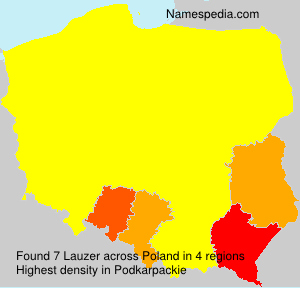 Surname Lauzer in Poland