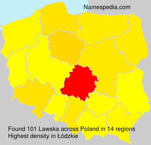 Surname Lawska in Poland