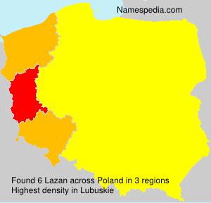 Familiennamen Lazan - Poland