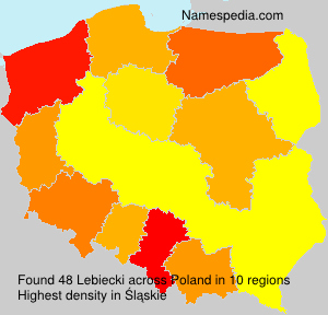 Surname Lebiecki in Poland