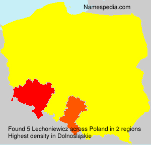 Surname Lechoniewicz in Poland
