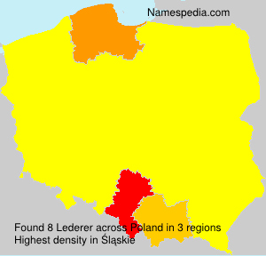 Surname Lederer in Poland
