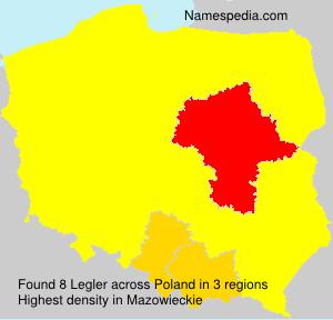 Familiennamen Legler - Poland