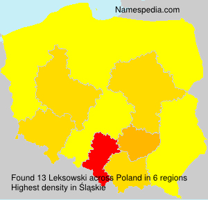 Surname Leksowski in Poland