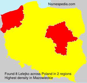 Familiennamen Lelejko - Poland