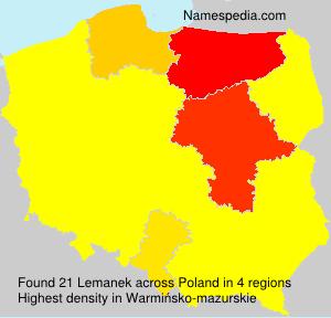 Surname Lemanek in Poland