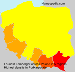 Surname Lemberger in Poland
