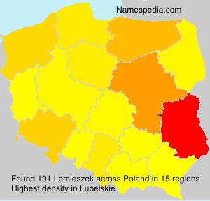 Surname Lemieszek in Poland