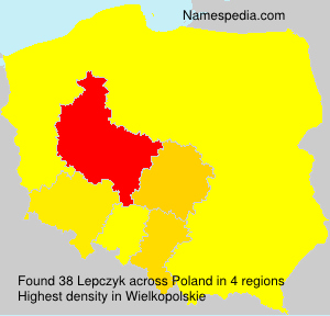 Surname Lepczyk in Poland