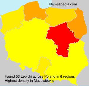 Surname Lepicki in Poland