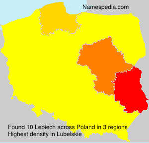 Surname Lepiech in Poland