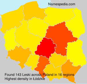 Familiennamen Leski - Poland