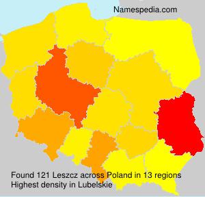 Familiennamen Leszcz - Poland
