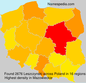 Surname Leszczynski in Poland