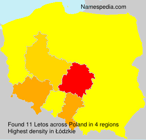 Surname Letos in Poland