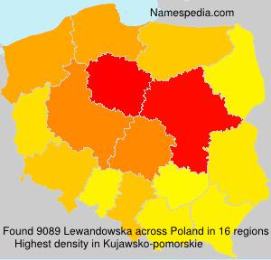 Surname Lewandowska in Poland