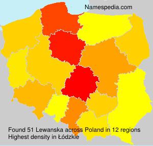Familiennamen Lewanska - Poland