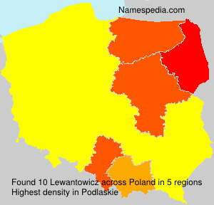 Surname Lewantowicz in Poland