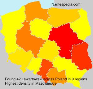 Surname Lewartowski in Poland