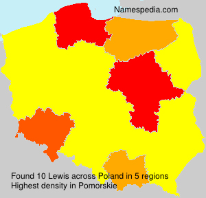 Surname Lewis in Poland