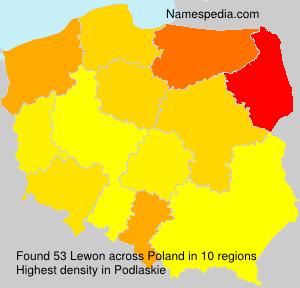 Surname Lewon in Poland