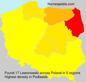 Surname Lewonowski in Poland