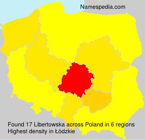 Surname Libertowska in Poland