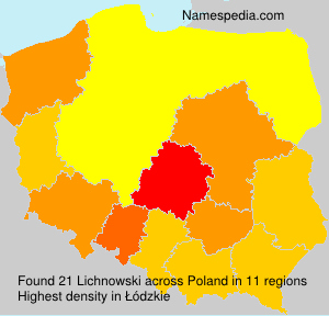 Surname Lichnowski in Poland